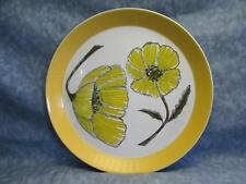 "Vintage MIKASA Duplex DINNER PLATES 10 5/8"" Ben Seibel Duet Yellow POPPIES L1"