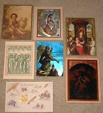 Art From 7 Vintage Religious Christmas Cards - Vogel Carlo - Bartolome Murillo