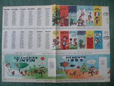 Calendrier TINTIN 1963 seul (à l'origine  dans TINTIN n° 740 - 27 décembre 1962)