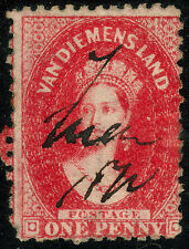 Tasmania 1d Red Queen Victoria 1864 Chalon Head. Choose from 6   • FREE POST •