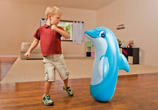 Inflatable DOLPHIN 3D Boxing Punch Bop Bag Kids Outdoor Indoor Game Toy (KK)