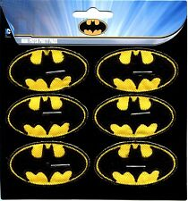 BATMAN bat logo MINI IRON-ON PATCH SET **FREE SHIPPING** -c pdc108s dc comics