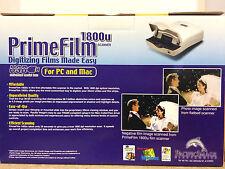 PrimeFilm 1800u Scanner Digitize Films Compatible PC and Mac New In Box