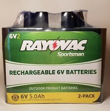 Rayovac Sportsman Rechargeable 6V 5.0Ah Batteries 2 Pack Factory Sealed NIP CL01