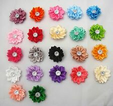 SATIN RIBBON FLOWERS - 5PCS/10PCS - KNITTING - SEWING CRAFTS