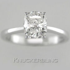 1.00ct Certified Diamond Ring D IF VG Cushion Cut Platinum Solitaire Engagement