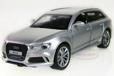Free shipping 1:32 Audi RS 6 Alloy Diecast Car Model Toy Sound&Light Silver 2223