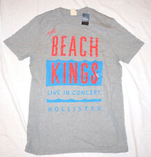 HOLLISTER T-SHIRT Men's Tee Shirt BEACH KINGS Navy Blue White Small Surf Soft
