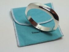 Tiffany & Co Heavy Cushion Sterling Silver Bangle Bracelet with Tiffany bag/box