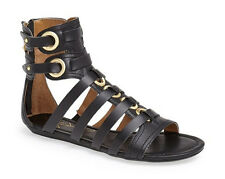 REPORT SIGNATURE LUCKIE GLADIATOR SANDAL FOR WOMEN IN BLACK SIZE9 NIB