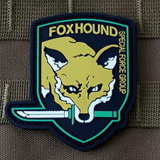 USA FOXHOUND ARMY MILITARY Specia Force TACTICAL Morale Badge PVC VELCRO PATCH