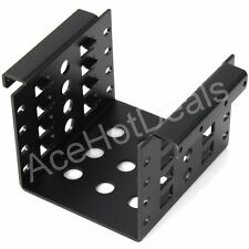 "Aluminum 4-Bay HDD Rack 3.5"" to 2.5"" SSD Hard Disk Drive Mount Bracket"