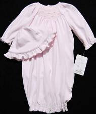 PETIT AMI NEWBORN SMOCKED PINK PIMA COTTON CONVERTIBLE LAYETTE SET~NWT'S