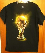 FIFA WORLD CUP TROPHY futbol med T shirt soccer gold Humans Holding Earth tee