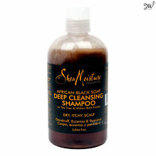 Shea Moisture African Black Soap Deep Cleansing Shampoo Dry Itchy Scalp 13 fl oz