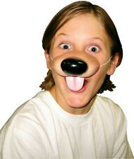 Premium Puppy Dog Nose Rubber Latex Mask Dress Up Elastic Childs Adult Fake NEW