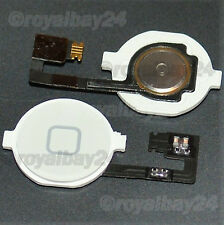 iPhone 4 Homebutton+Knopf Flex Kabel Home Button  Flexkabel  4G Taste weiß
