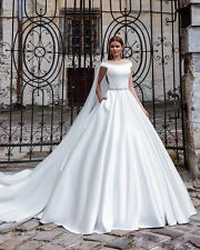 2017 Satin wedding dress wedding dress of neo classical custom size 8 10 12 14+