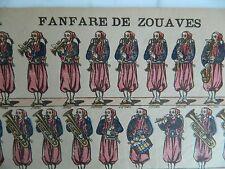 Image d'Epinal Fanfare de Zouaves & Infanterie Imagerie Pellerin n°216 Militaire