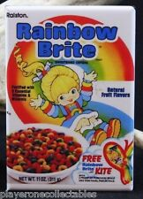 "Rainbow Brite Cereal Box 2"" X 3"" Fridge / Locker Magnet."