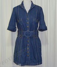 "BEAUTIFUL SASS&BIDE DENIM SHIRT DRESS/LIGHT COAT AUS 10 ""ANUBIS AT THE FUNERAL"""