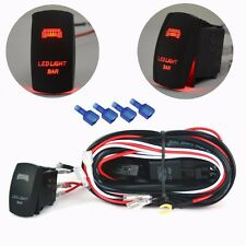 3M 40A Wiring Harness Red LED Light Bar Laser Rocker Switch Relay Fuse ATV Jeep