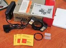 Canon Macrolite mL-1 Macro Light Ring Flash Complete Original Box  !! N745