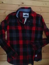 NEW Penfield Madewell Chatham Buffalo Plaid Flannel Check Top S Red Wool
