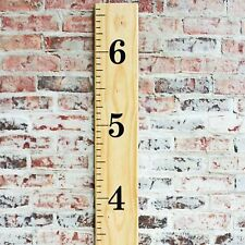 DIY Vinyl Growth Chart Ruler Decal Kit - Traditional Style - Jumbo #s, Black