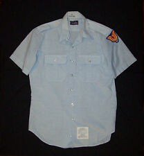 Old vtg 1970s Vietnam War Era Civil Air Patrol Shirt USAF Citadel size 16 W/ Pat