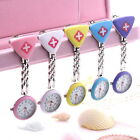 Cute Round Triangular Nurse Doctor Watch Hanging Pocket Clip-on Time Piece OE
