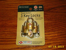 PROTEGE TRAVEL SENTRY TSA 3-Pack Key Locks mint SEALED!!