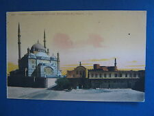 Scarce Egypt Hand Colored Post Card - Cairo, Mosque of Sultan Mohamed-Ali (east)