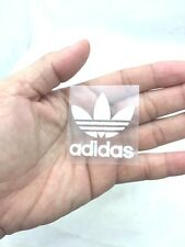ADIDAS WHITE TREFOIL IRON ON PATCH SPORTS LOGO DIY T-SHIRT CLOTHING 4 X 4 CM