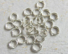 12 pieces of 925 Sterling Silver Split Jump Rings 5 mm NEW