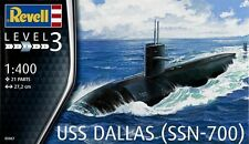 Revell 1/400 US Navy Submarine USS Dallas Plastic Model Kit 05067 RVL05067