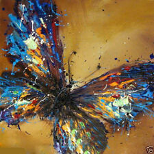 huge canvas Modern hand-paint Art Oil Painting beautiful butterfly NO frame