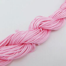 25M Pink Rattail Bracelet Braided String Nylon Cord Thread Chinese Knot Macrame