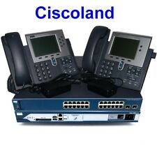Cisco CCNA Voice Collaboration Lab Kit 2811 256D/128F CME 8.6 + 3560-PS + 2x7940