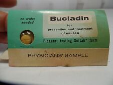 1960's Bucladin Anti-Nausea Medication Physicians Sample Pack