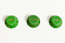 Set of Green Stratocaster guitar knobs 1V 2T - Set de botones Strat verde