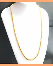 Elegant Women Men 22K Yellow Gold Plated Snake Chain Necklace Jewelry  hc16