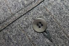 LUCIANO BARBERA Italy Flannel 100% Wool Dress Pants 35x32.5 Flat Front