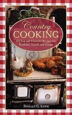 Country Cooking by Donald Lewis Cookbook Cook Book NEW