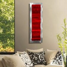 Modern Abstract Red Metal Wall Art Home Decor Accent - Inner Fire 2 by Jon Allen