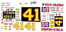#41 Al Unser Pepsi Torino 1/64th HO Scale Slot Car Waterslide Decals