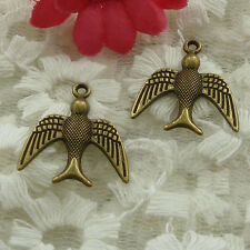 free ship 240 pieces bronze plated swallow charms 22x20mm #2526