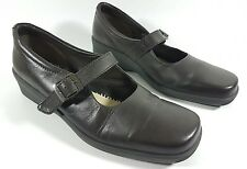 Hotter comfort concept womens dark brown leather flat shoes uk 7 need insoles