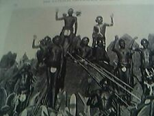 magazine picture 1929 reprint australian natives spears boomerangs sheild