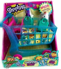 SHOPKINS SEASON 3 XL SHOPPING CART PLAYSET w/ EXCLUSIVE FIGURES STORES 60 VHTF